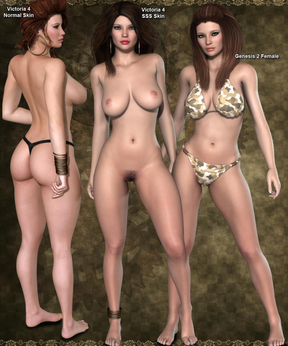 Daz3d girl nude naked comic