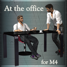 At the office for M4 3D Figure Assets 3D Models Leije