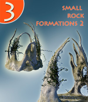 Small rock formations 2 3D Models 1971s