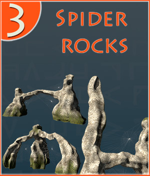 Spider rocks 3D Models 1971s
