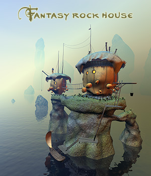 Fantasy rock house 3D Models 1971s