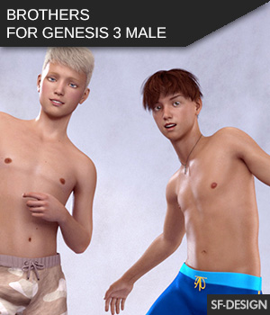 Brothers for Genesis 3 Male 3D Figure Assets SF-Design