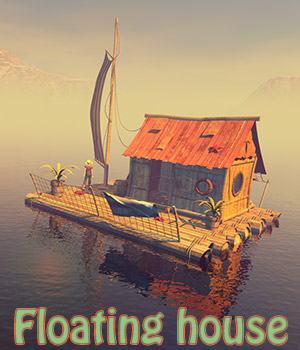 Floating house 3D Models 1971s