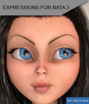 Expressions for Nata 3 3D Figure Assets SF-Design