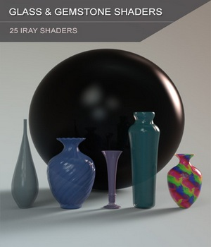 Glass and Gemstone Shaders for Iray and Merchant Resource 3D Figure Assets Merchant Resources SF-Design