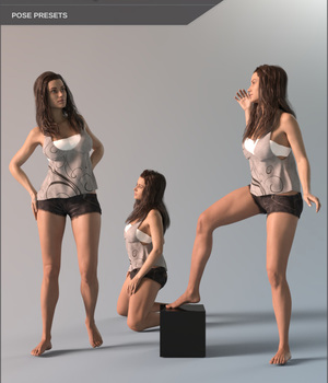 Sensual Poses for Lilith 7 3D Figure Assets SF-Design