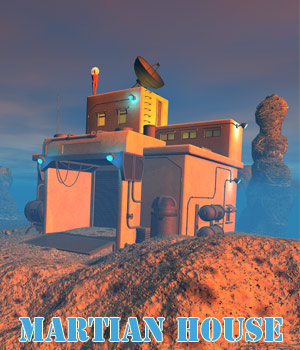 Martian house 3D Models 1971s