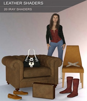 Leather Shaders for Iray and Merchant Resource 3D Figure Assets Merchant Resources SF-Design