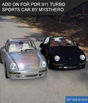 Add On Iray Extension for POR.911 Turbo Sports Car by Mysthero (Daz Studio) 3D Figure Assets SF-Design