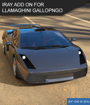 Add On for Llamaghini Gallopngo by Mattymanx - Iray Extension  3D Figure Assets SF-Design