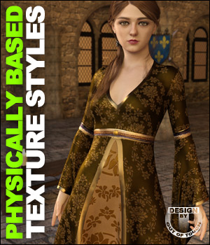 OOT PBR Texture Styles for May Gown 3D Figure Assets outoftouch