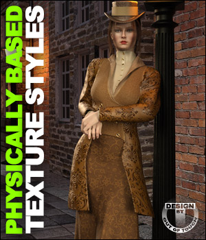 OOT PBR Texture Styles for Mid Victorian Outfit 3D Figure Assets outoftouch