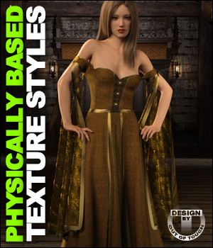 OOT PBR Texture Styles for July Gown 3D Figure Assets outoftouch