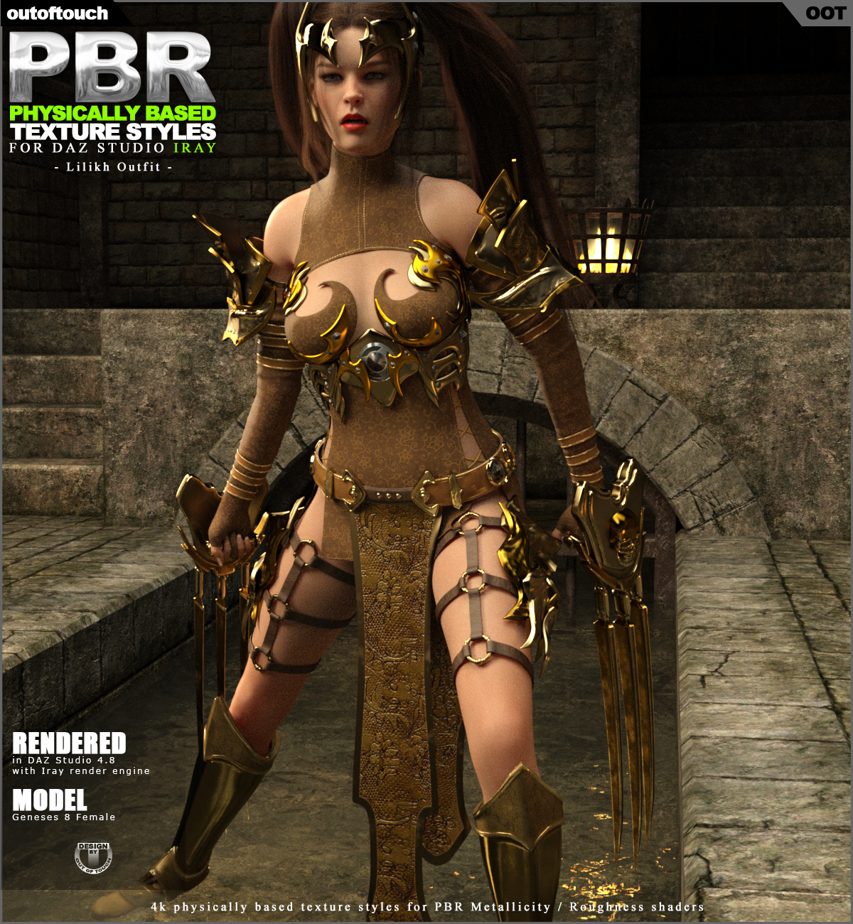 OOT PBR Texture Styles for dForce Lilikh Outfit