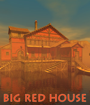 Big red house 3D Models 1971s