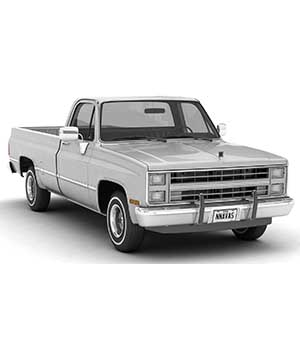 GENERIC PICKUP TRUCK 2 - Extended License 3D Game Models : OBJ : FBX 3D Models Extended Licenses nnavas