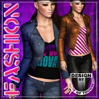 FASHION for Hongyu's CowGirl 3 for V4/Elite 3D Figure Assets outoftouch