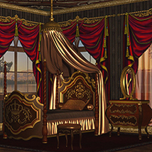 Add-on textures for Montespan Bedroom 3D Models RPublishing