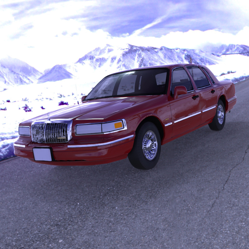 Lincoln Towncar 1996 (for Wavefront OBJ)