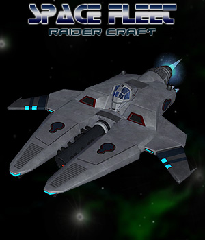 Space Fighter Raider Software Props/Scenes/Architecture Transportation Themed Simon-3D
