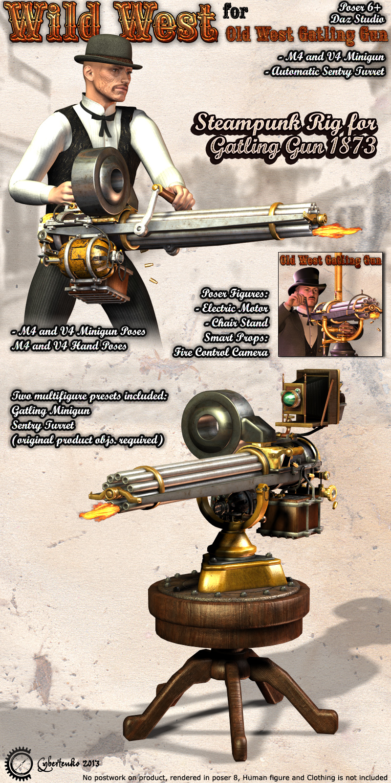 Wild West for Old West Gatling Gun