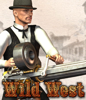 Wild West for Old West Gatling Gun 3D Models Cybertenko