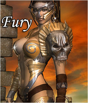 Fury for V4, A4, G4 3D Figure Assets RPublishing