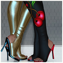 Stylz for Show Off Boots 3D Figure Assets 3D Models Belladzines