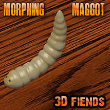 3D Fiends' Morphing Maggot Themed Stand Alone Figures Animals 3DFiends