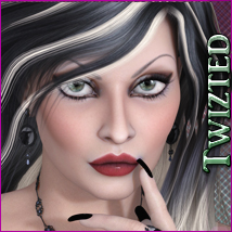 Twizted Erato Hair 3D Figure Essentials TwiztedMetal