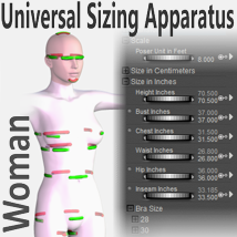 Universal Sizing Apparatus/Woman 3D Figure Essentials Rocketship3D