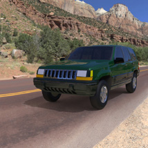 Jeep Grand Cherokee 94 (for Wavefront OBJ) 3D Models Digimation_ModelBank