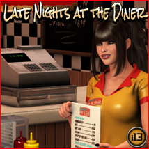 i13 Late Nights at the DINER 3D Models Software ironman13