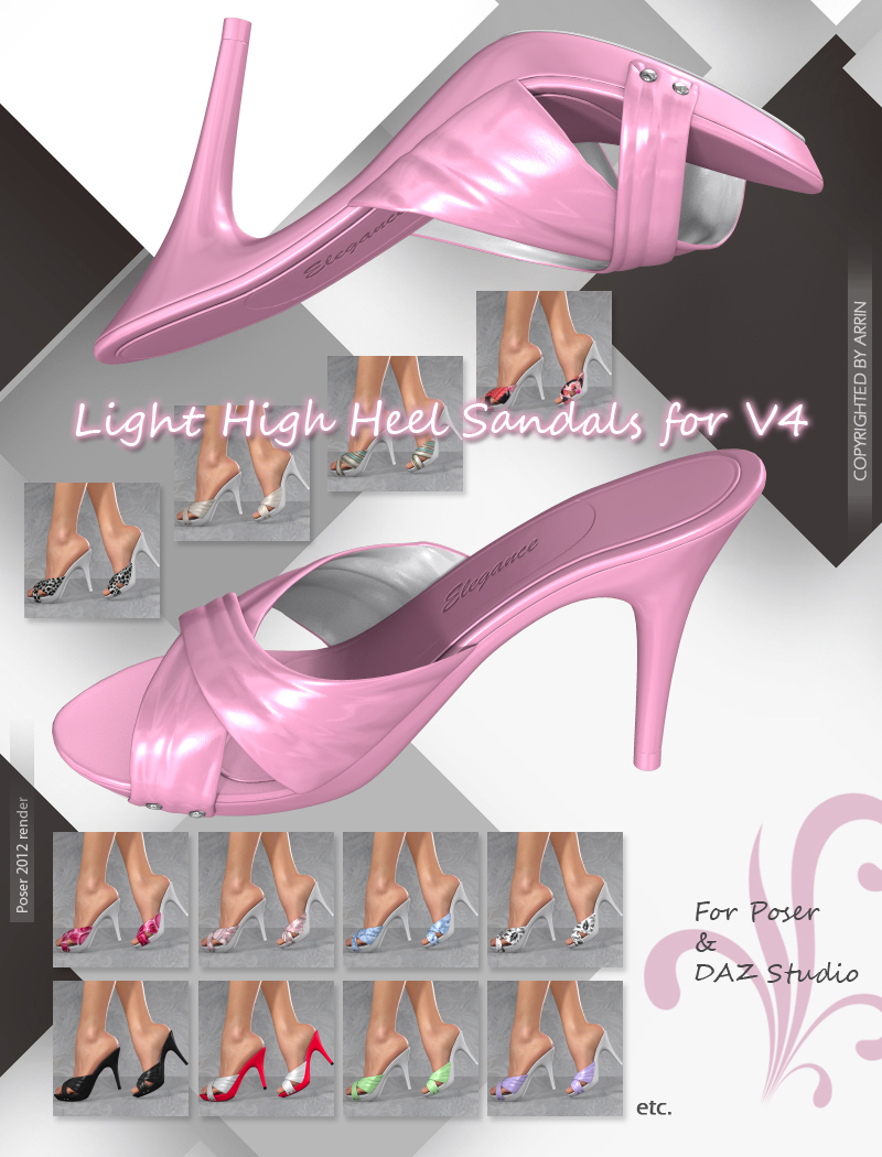 Light High Heel Sandals