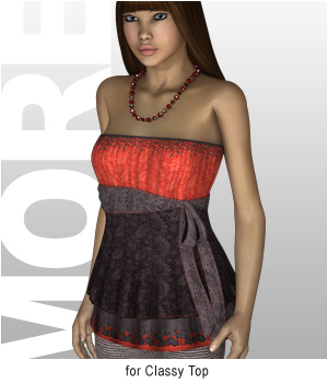 MORE Textures & Styles for Classy Top 3D Figure Essentials 3D Models motif