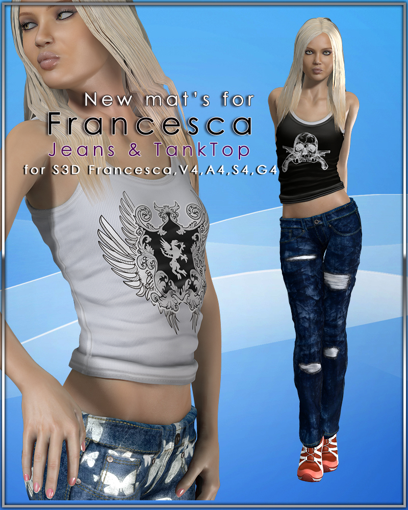 Slide3D Francesca JT New Mats by Slide3D