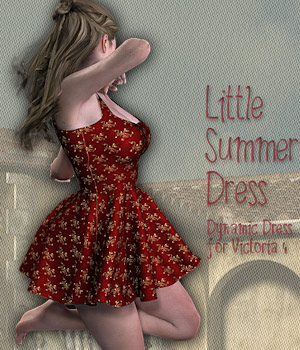 Little Summer Dress 3D Figure Essentials 3D Models Tipol