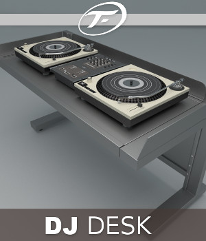 DJ Desk 3D Models TruForm