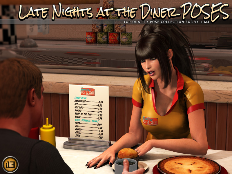 i13 Late Nights at the DINER POSES by biglovepose