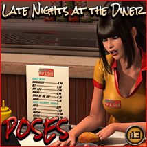 i13 Late Nights at the DINER POSES 3D Figure Assets ironman13