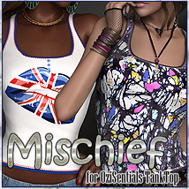 Mischief for OziSentials Tank Top Clothing Themed FrozenStar