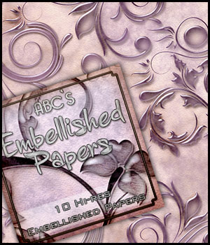 ABC's Embellished Papers 2D 3D Models Bez