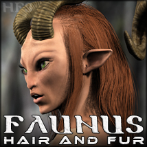 HFS Races: Faunus Hair & Fur 3D Figure Essentials 3D Models DarioFish