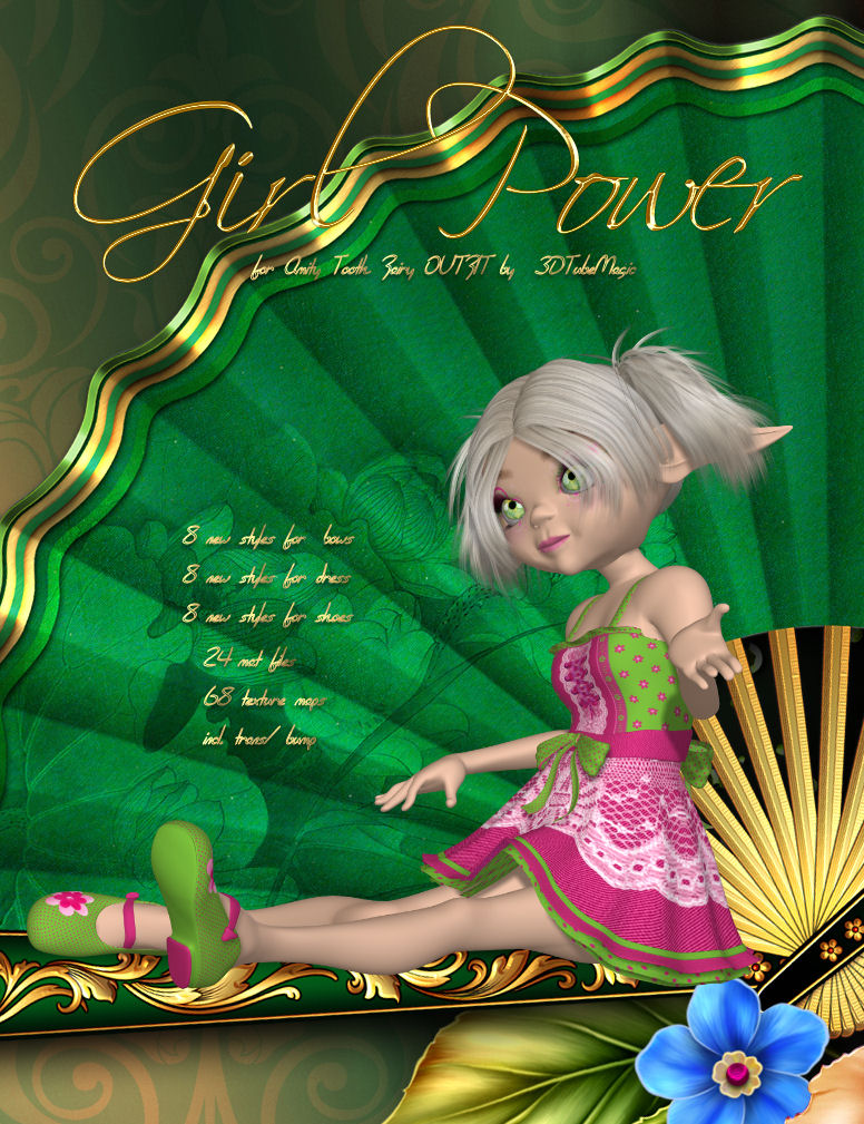 DA-GirlPower for Amity Tooth Fairy OUTFIT by 3DTubeMagic