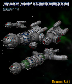 Space Ship Constructor Set 7 3D Models Simon-3D