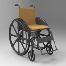 Wheelchair (for Poser and Vue) 3D Figure Essentials 3D Models Digimation_ModelBank