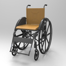 Wheelchair (for Poser and Vue) image 1