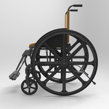 Wheelchair (for Poser and Vue) image 2