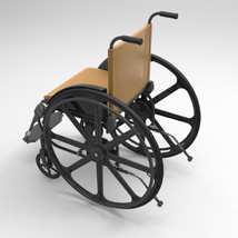Wheelchair (for Poser and Vue) image 3