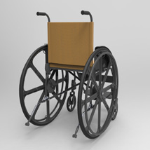 Wheelchair (for Poser and Vue) image 4